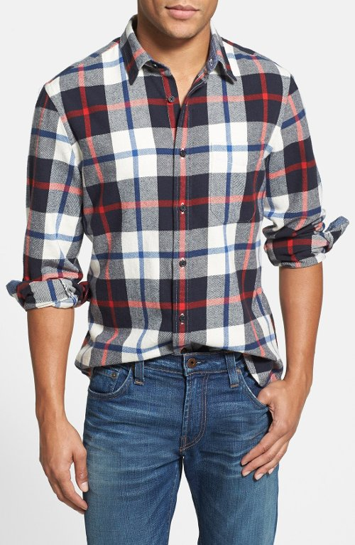 Flannel Sport Shirt by Wallin & Bros. in Begin Again