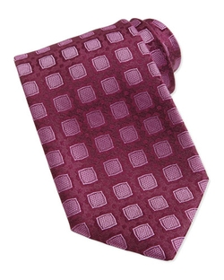 Medallion Pattern Silk Tie by Charvet in The Good Wife