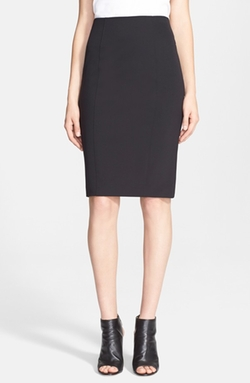 Back Zip Scuba Pencil Skirt by Veronica Beard in Scandal
