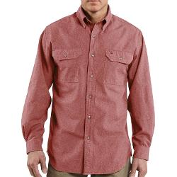 Chambray Work Shirt - Long Sleeve by Carhartt in Tammy