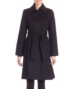 Wool & Cashmere Wrap Coat by Sofia Cashmere in Once Upon a Time