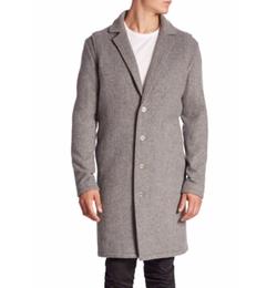 Melton Wool Coat by Zanerobe in Collide