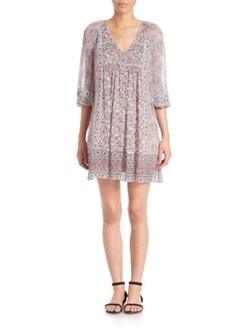 Foxley Printed Silk Shift Dress by Joie in Grace and Frankie