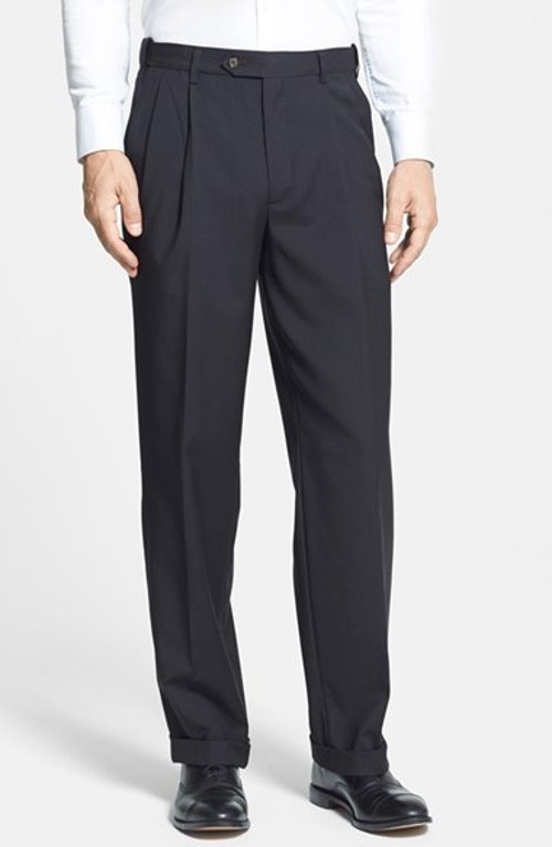 Self Sizer Waist Pleated Trousers by Berle in Unfinished Business