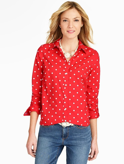Polka-Dot Shirt by Talbots in Keeping Up With The Kardashians - Season 11 Episode 10