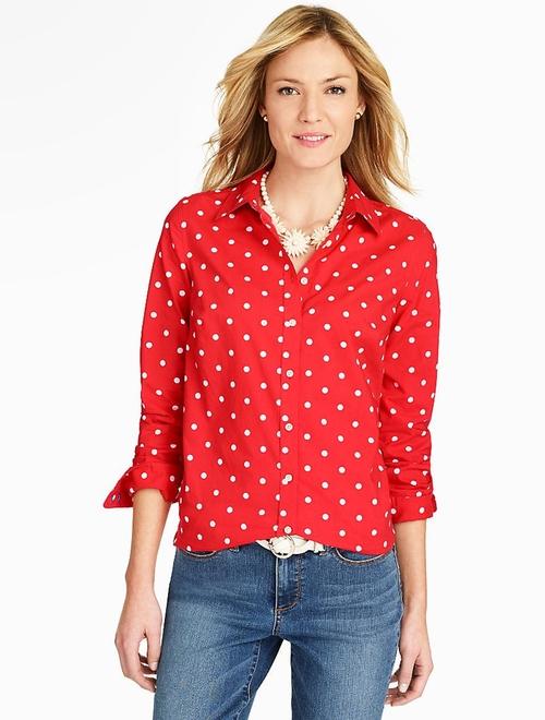 Polka-Dot Shirt by Talbots in Keeping Up With The Kardashians - Season 11 Episode 10