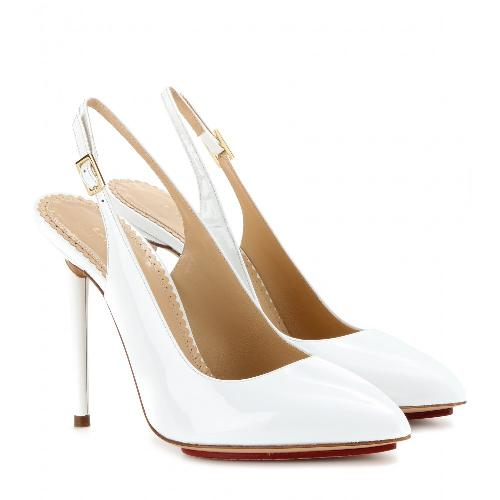 MONROE PATENT-LEATHER SLING-BACK PUMPS by Charlotte Olympia in The Wolf of Wall Street