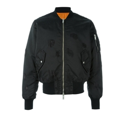 Distressed Nylon Bomber Jacket by Unravel Project in Keeping Up With The Kardashians