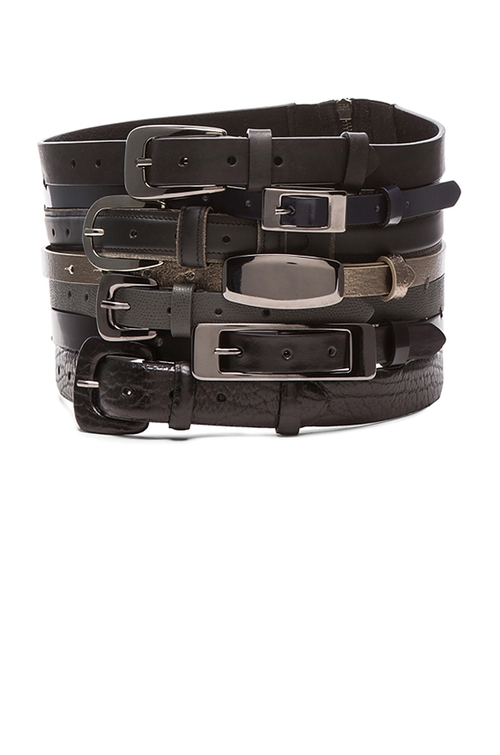 Stacked Multi Leather Belt by Maison Margiela in Empire