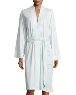 Butterknit Short Wrap Robe by P Jamas in Scream Queens