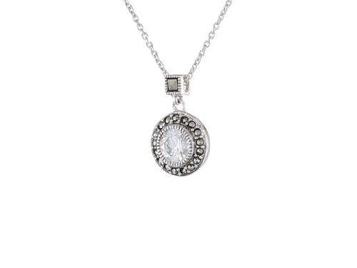 Classics Sterling Silver Pendant Necklace by Judith Jack in Hall Pass