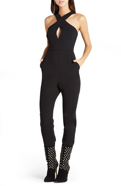 Cross Neck Georgette Jumpsuit by BCBGeneration in Keeping Up With The Kardashians - Season 11 Episode 3