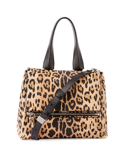 Pandora Pure Leopard-Print Satchel Bag by Givenchy in Empire