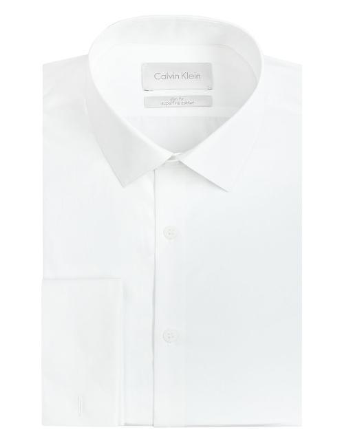Slim Fit Dress Shirt by Calvin Klein in Unbroken