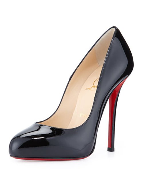 Argotik Patent Red Sole Pumps by Christian Louboutin in Crazy, Stupid, Love.