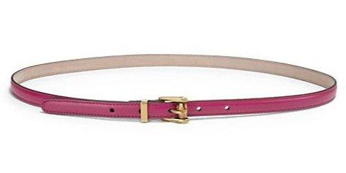 Skinny Leather Belt by Gucci in Taken 3