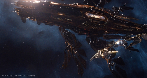 The Aegis Space Ship by George Hull (Lead Conceptual Designer) in Jupiter Ascending