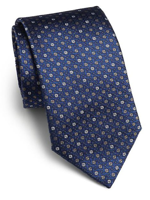 Textured Dot Silk Tie by Saks Fifth Avenue Collection in Suits - Season 5 Episode 3