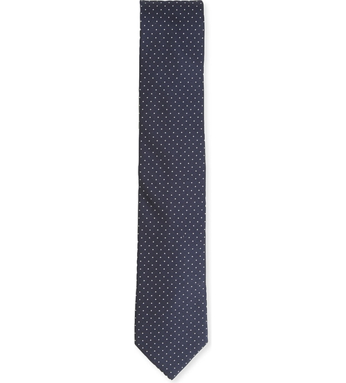 Dotted Silk Tie by Lanvin in Suits