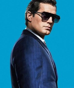 Custom Made Stripe Three Piece Suit by Timothy Everest in The Man from U.N.C.L.E.