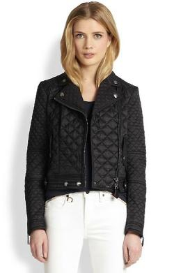 Oakcliffe Quilted Moto Jacket by Burberry Brit in John Wick
