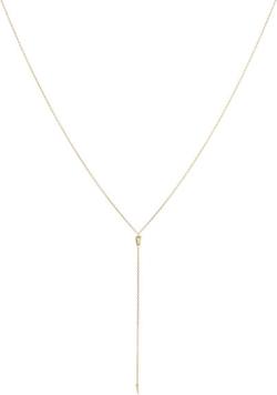 Diamond & Gold Y-Chain Necklace by Loren Stewart in Pretty Little Liars