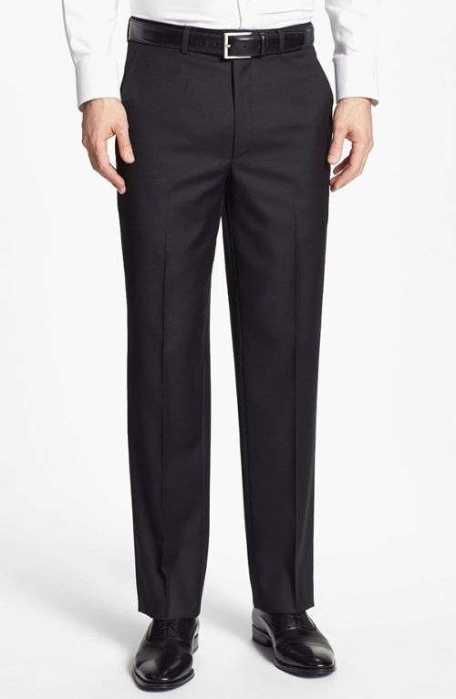 Flat Front Wool Trousers by Santorelli in The Devil Wears Prada