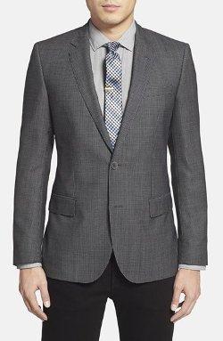 'Hutch' Trim Fit Check Wool Sport Coat by Boss Hugo Boss in The Gunman