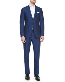 Silk/Linen Solid Two-Piece Suit by Ermenegildo Zegna in Suits