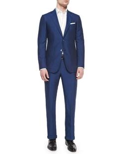 Silk/Linen Solid Two-Piece Suit by Ermenegildo Zegna in Suits