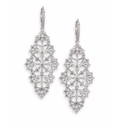 Ophelia Faceted Drop Earrings by Adriana Orsini in Suits