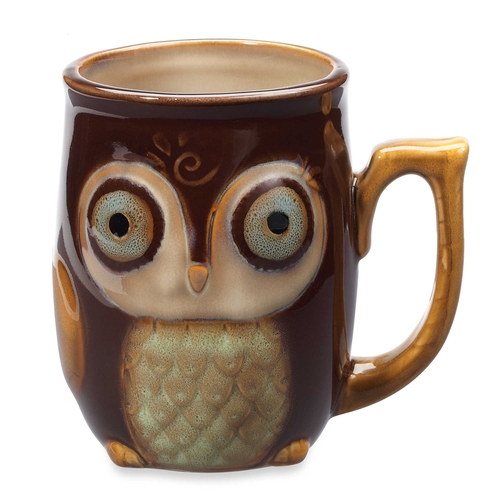 Nature's Owl Mug by Gibson Home in Unbreakable Kimmy Schmidt - Season 2 Episode 8