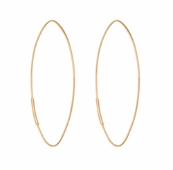 Straight Magic Large Hoop Earrings by Lana in Keeping Up With The Kardashians