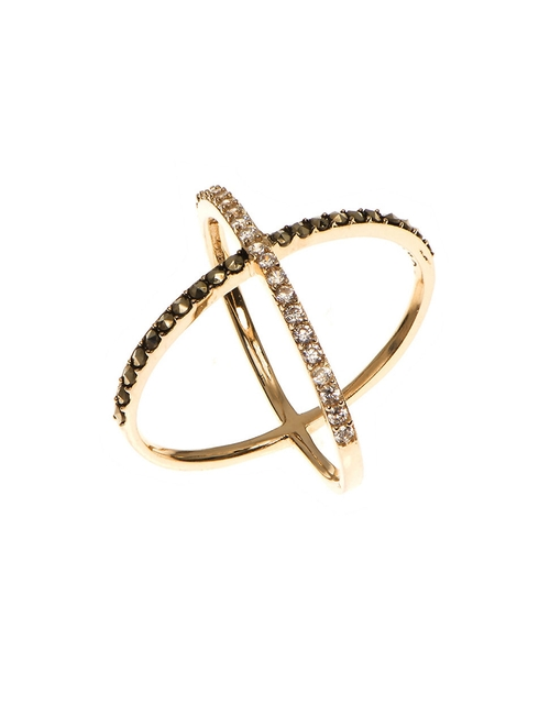 Goldplated Sterling Silver X Ring by Judith Jack in Pretty Little Liars - Season 6 Episode 3