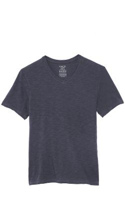 Slub V Neck T-Shirt by Vince in Into the Storm
