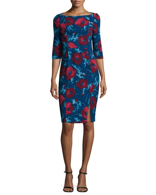 3/4-Sleeve Floral-Print Dress by Black Halo in Scandal - Season 5 Episode 8