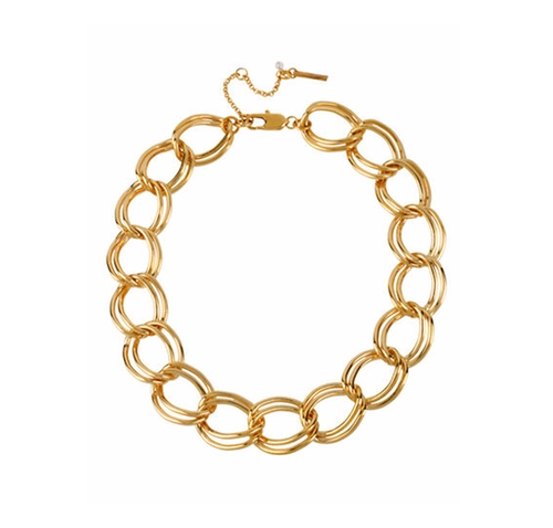 Gold-Plated Large Link Necklace by Kenneth Cole New York in The Boss