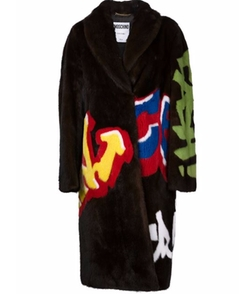 Graffiti Coat by Moschino in Keeping Up With The Kardashians