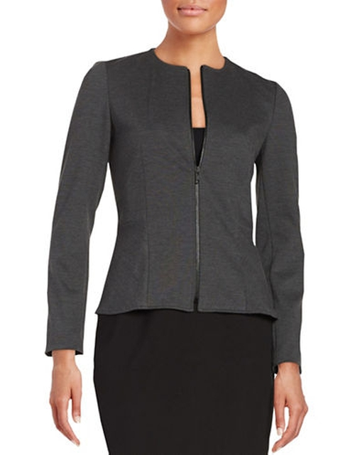 Stretch Zip Front Blazer by Tahari Arthur S. Levine in The Good Wife - Season 7 Episode 12