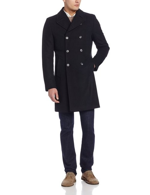 Men's Egan Double Breasted Coat by Kenneth Cole New York in Unfinished Business