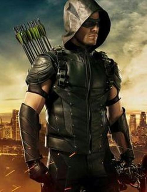 Custom Made Green Arrow Suit by Maya Mani (Costume Designer) in Arrow - Season 5 Episode 10
