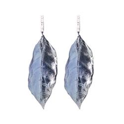 Diamond Leaf Earrings by Fred Meyer Jewelers in Nashville