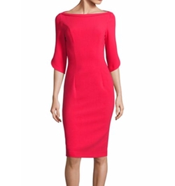 Ruched 3/4-Sleeve Sheath Dress by Armani Collezioni in Grace and Frankie