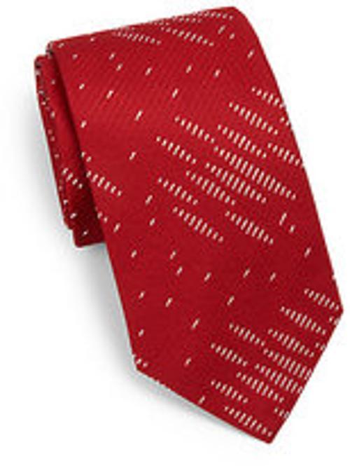 Diagonal Seed Print Silk Tie by Armani Collezioni in Unbroken