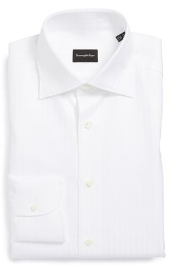 Regular Fit Solid Dress Shirt by Ermenegildo Zegna in Begin Again
