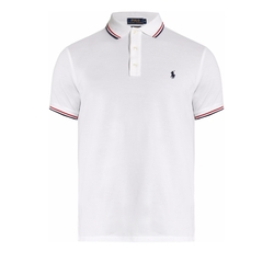 Slim-Fit Striped-Collar Piqué Polo Shirt by Polo Ralph Lauren in Flaked