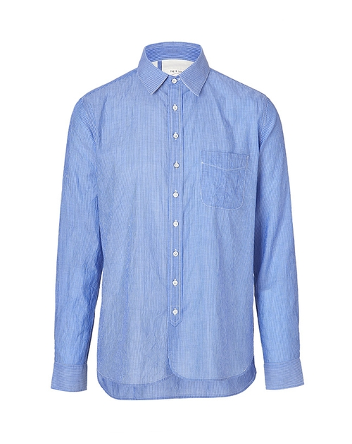 Cotton-linen Placket Shirt In Blue by Rag & Bone in Ted