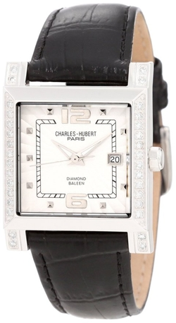 Stainless Steel Diamond Watch by Charles-Hubert Paris in The Women