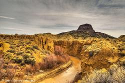 Albaquerque, New Mexico by Rio Puerco in Transcendence