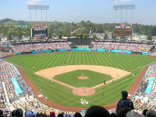 Dodgers Stadium Los Angeles, California in About Last Night